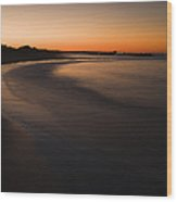 Beach At Sunset Wood Print by Roberto Westbrook