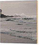 Beach At Tofino  Wood Print