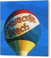Beach Ball Wood Print