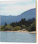 Beach Biking Lake Tahoe Wood Print