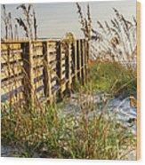 Beach Boardwalk Wood Print