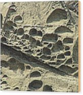 Beach Craters Wood Print by Wendy McKennon