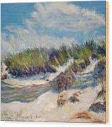 Beach Dune Wood Print