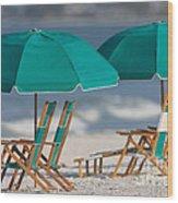 Beach Furniture I Wood Print
