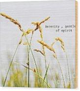 Beach Grass .serenity. Wood Print