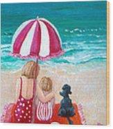 Beach I Wood Print