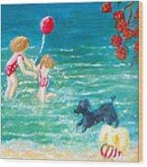 Beach II Wood Print