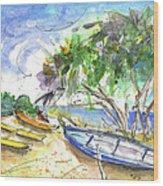 Beach In Ayia Napa Wood Print