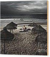 Beach Minstrel Wood Print by Carlos Caetano
