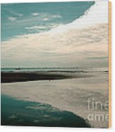 Beach Reflection Wood Print