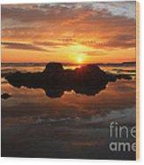 Beach Reflections Wood Print