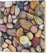 Beach Rocks 1 Wood Print