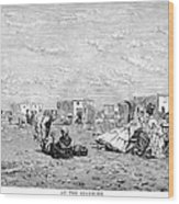 Beach Scene, 19th Century Wood Print