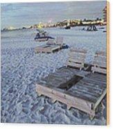 Beach Side Wood Print