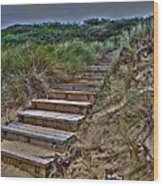 Beach Stairs Wood Print by Joanne Kocwin