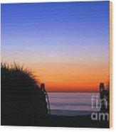 Beach Sunrise Wood Print
