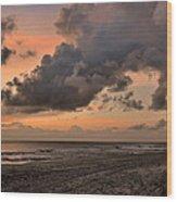 Beach Sunrise Obx  - C0983d Wood Print