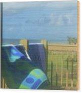 Beach Towels Wood Print