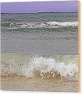 Beach Waves Wood Print