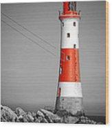 Beachy Head Lighthouse Wood Print by Mark Leader