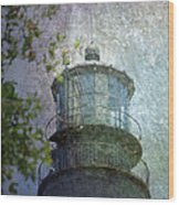 Beacon Of Hope Wood Print by Judy Hall-Folde