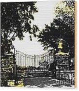Beacon Rock Gate Newport Ri Wood Print