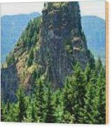 Beacon Rock Wood Print