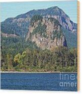 Beacon Rock Standing Tall Wood Print