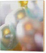 Beads A Blur Wood Print