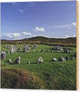 Beaghmore Stone Circles, Co. Tyrone Wood Print by The Irish Image Collection