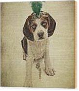 Beagle Puppy Flapper  Wood Print