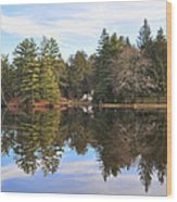 Bear Creek Lake Wood Print