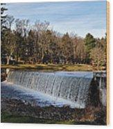 Bear Creek Lake Waterfall Wood Print