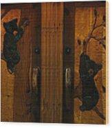 Bear Doors Carved Wood Print