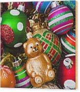 Bear Ornament Wood Print