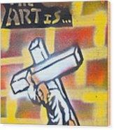Bearing The Cross Wood Print