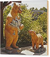 Bears At Taprock Wood Print