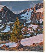 Beartooth Sunrise Light Wood Print