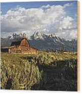 Beautiful Barn Grand Teton  Wood Print
