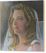 Beautiful Bride Wood Print