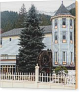 Beautiful Country Inn In Washington Wood Print