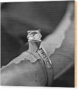 Beautiful Engagement Two Wood Print