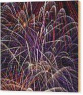 Beautiful Fireworks Wood Print by Garry Gay
