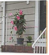 Beautiful Floral Entrance Wood Print