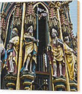 Beautiful Fountain In Nuremberg Wood Print
