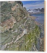 Beautiful Landscape Around Alkehornet Norway Wood Print