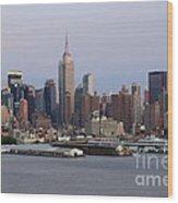 Beautiful Light On New York City Wood Print