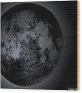 Beautiful Moon Through Telescope Wood Print