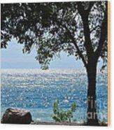 Beautiful Morning On The Lake Wood Print