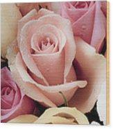 Beautiful Roses Wood Print by Garry Gay